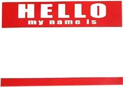 """Стикеры """"HELLO my name is"""""""