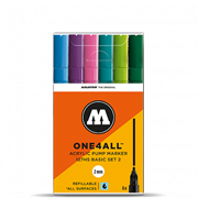 Набор маркеров Molotow One4all 127HS Basic-Set 2 6 штук